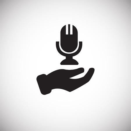 Customer care on white background icon