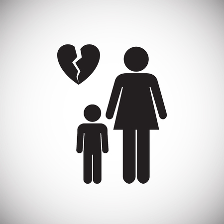 One parenting on white background icon
