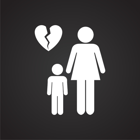 One parenting on black background icon