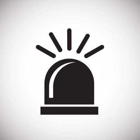 Alarm flasher on white background icon