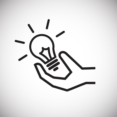 Coworking idea light bulb on white background icon