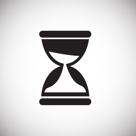 Coworking time management sand watch icon on white background 向量圖像