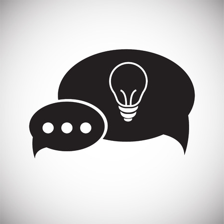 Coworking speech bubble idea on white background icon