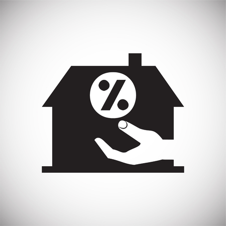 Real estate property inestments on white background icon