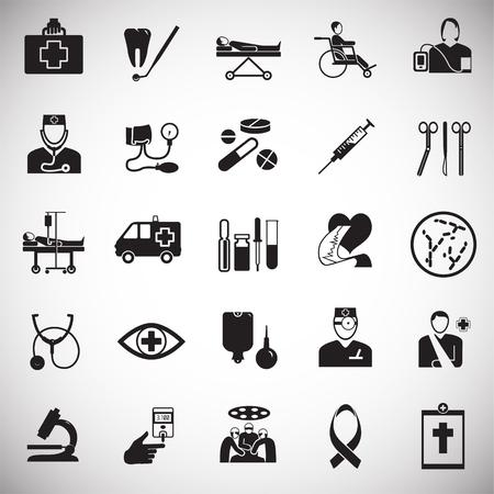 Medicine icon set on white background background icons