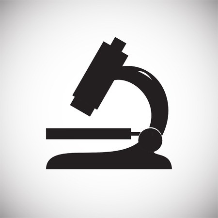 Microscope on white background icon Banco de Imagens