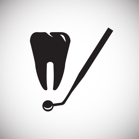 Stomatology icon on white background icon