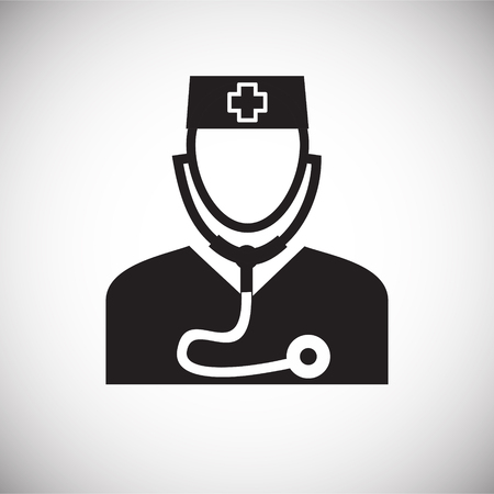 Doctor on white background icon