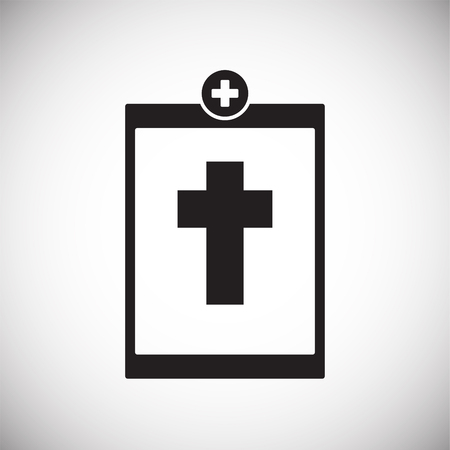 Death report on white background icon