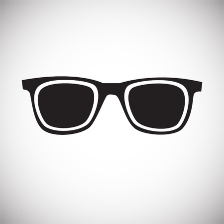 Trendy eye wear glasses on white background icon Illustration