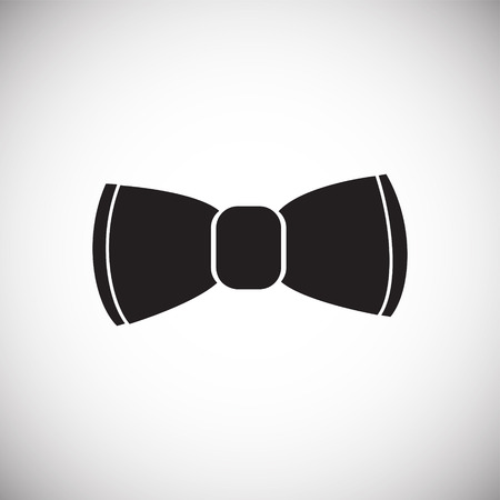 Trendy cute bow on white background icon