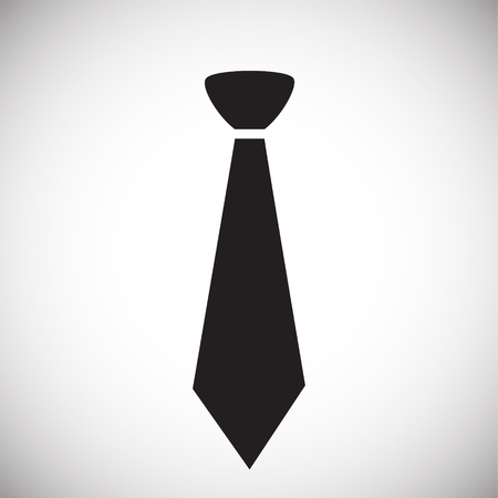 Trendy cute tie on white background icon