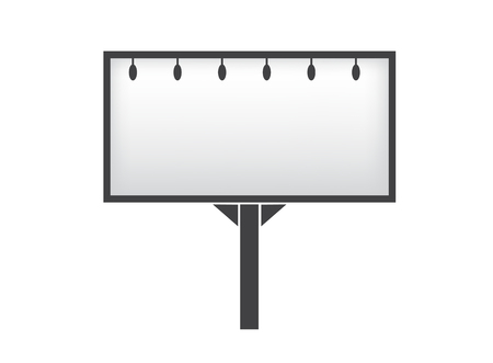 Banner mockup on white background icon