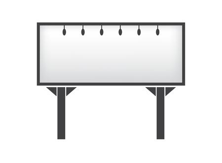 Banner mockup on white background icon