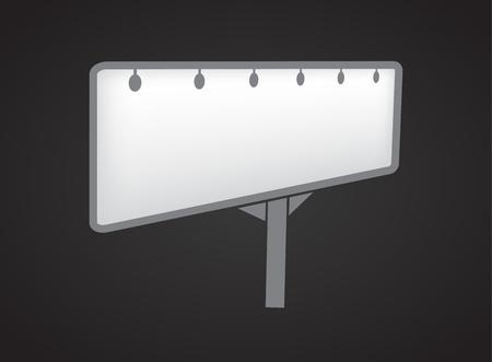 Banner mockup on black background icon Ilustracja
