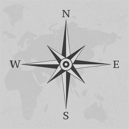 Wind rose compass vintage on background illustration