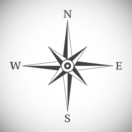 Wind rose compass vintage on white background illustration