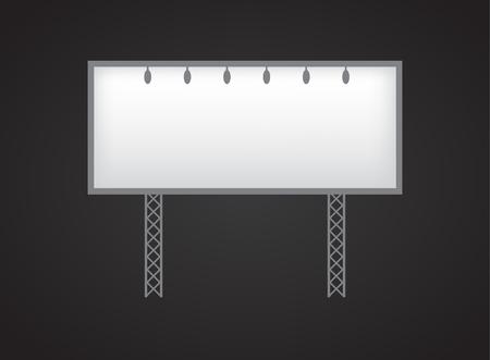 Banner mockup on black background icon Zdjęcie Seryjne
