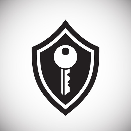 Digital security symbol icon on white background for graphic and web design, Modern simple vector sign. Internet concept. Trendy symbol for website design web button or mobile app.