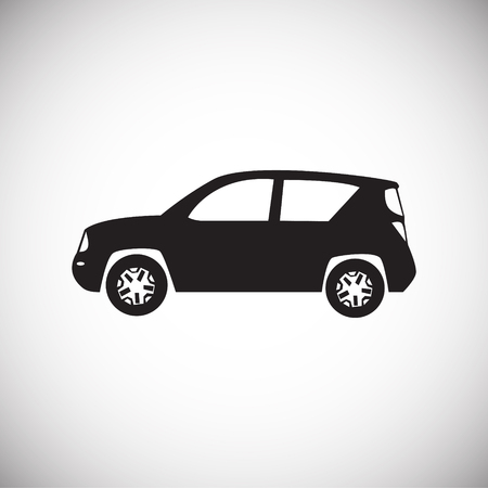 Car icon on white background for graphic and web design, Modern simple vector sign. Internet concept. Trendy symbol for website design web button or mobile app.