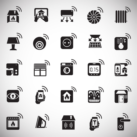 Smart home icons set on white background for graphic and web design, Modern simple vector sign. Internet concept. Trendy symbol for website design web button or mobile app.
