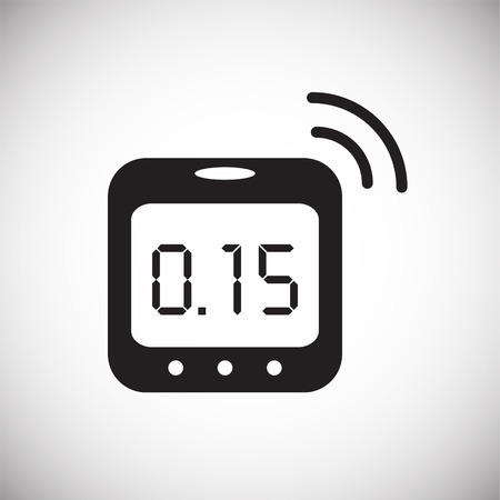 Smart humidity sensor icon on white background for graphic and web design, Modern simple vector sign. Internet concept. Trendy symbol for website design web button or mobile app