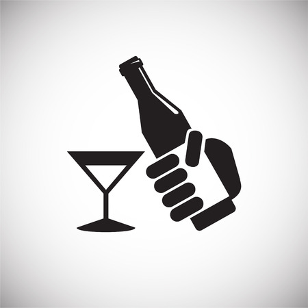 Birthday alcohol icon on white background for graphic and web design, Modern simple vector sign. Internet concept. Trendy symbol for website design web button or mobile app Фото со стока