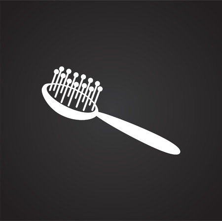 Pet comb icon on black background for graphic and web design, Modern simple vector sign. Internet concept. Trendy symbol for website design web button or mobile app