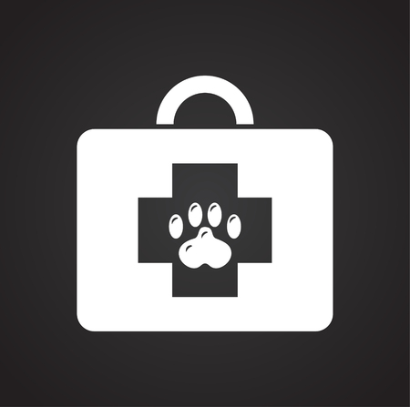 Veterinarian doctor on black background for graphic and web design, Modern simple vector sign. Internet concept. Trendy symbol for website design web button or mobile app Illustration