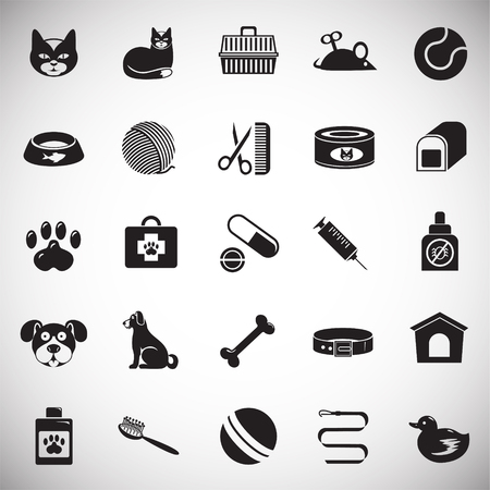 Pet icons set on white background for graphic and web design, Modern simple vector sign. Internet concept. Trendy symbol for website design web button or mobile app