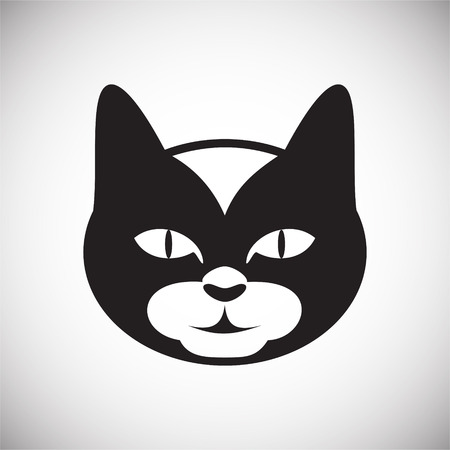 Pet cat icon on white background for graphic and web design, Modern simple vector sign. Internet concept. Trendy symbol for website design web button or mobile app