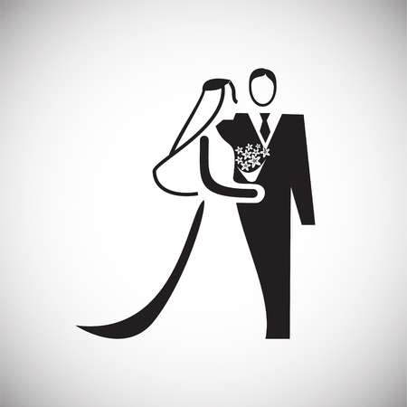 Maried couple icon on white background for graphic and web design, Modern simple vector sign. Internet concept. Trendy symbol for website design web button or mobile app