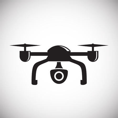 Drone quadcopter icon on white background for graphic and web design, Modern simple vector sign. Internet concept. Trendy symbol for website design web button or mobile app Illustration