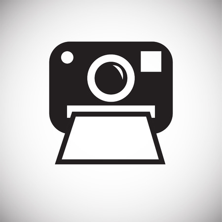 Instant camera icon on white background for graphic and web design, Modern simple vector sign. Internet concept. Trendy symbol for website design web button or mobile app Vetores