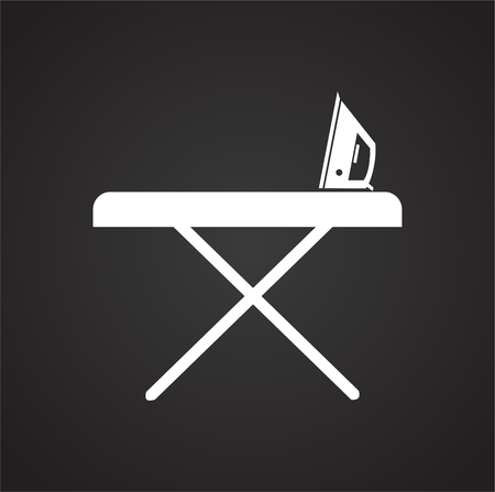 Ironing board icon on white background for graphic and web design, Modern simple vector sign. Internet concept. Trendy symbol for website design web button or mobile app Vektoros illusztráció