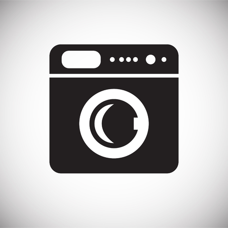 Automatic washing machine icon on white background for graphic and web design, Modern simple vector sign. Internet concept. Trendy symbol for website design web button or mobile app