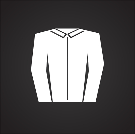 Clean shirt icon on white background for graphic and web design, Modern simple vector sign. Internet concept. Trendy symbol for website design web button or mobile app Illusztráció