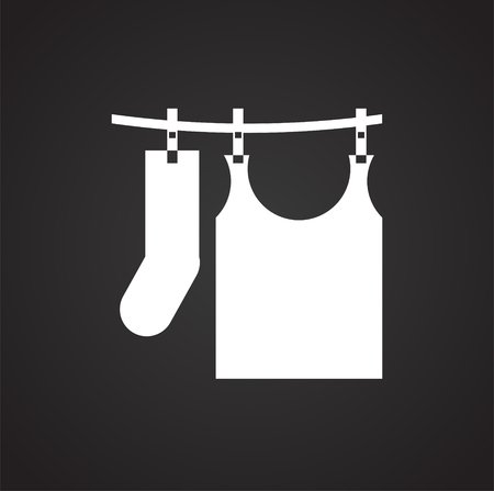 Clothing hanging on rope icon on white background for graphic and web design, Modern simple vector sign. Internet concept. Trendy symbol for website design web button or mobile app