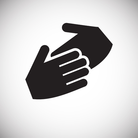 Hand shaking icon on white background for graphic and web design, Modern simple vector sign. Internet concept. Trendy symbol for website design web button or mobile app
