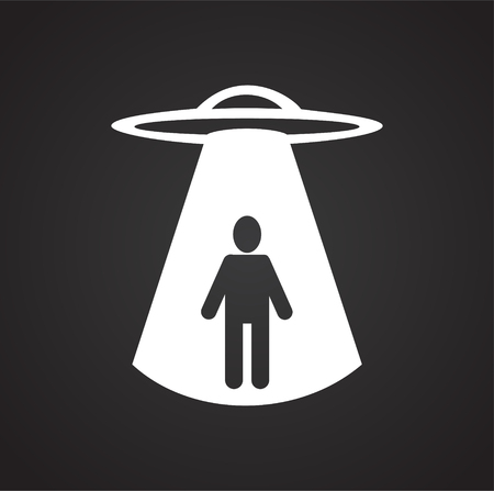 Ufo Alien icon on black background for graphic and web design, Modern simple vector sign. Internet concept. Trendy symbol for website design web button or mobile app