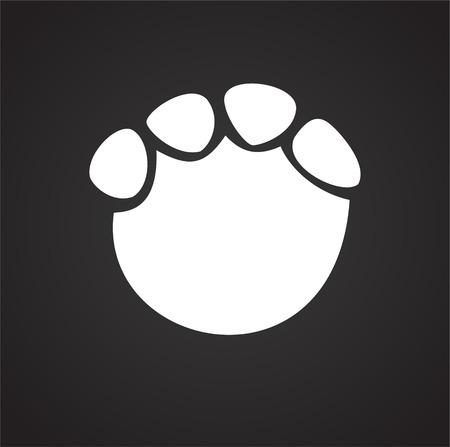 Foot print icon on black background for graphic and web design, Modern simple vector sign. Internet concept. Trendy symbol for website design web button or mobile app Vectores
