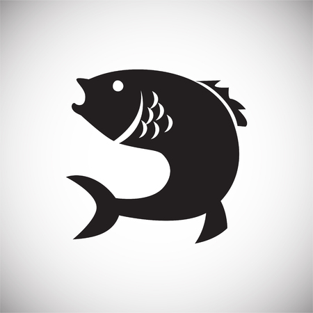 Fish icon on white background for graphic and web design, Modern simple vector sign. Internet concept. Trendy symbol for website design web button or mobile app