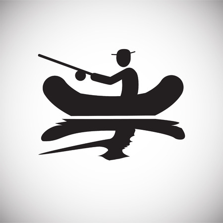 Fisherman icon on white background for graphic and web design, Modern simple vector sign. Internet concept. Trendy symbol for website design web button or mobile app