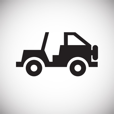Offroad hunting vehicle icon on white background for graphic and web design, Modern simple vector sign. Internet concept. Trendy symbol for website design web button or mobile app