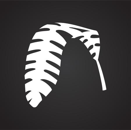 Tropic leaf on white background for graphic and web design, Modern simple vector sign. Internet concept. Trendy symbol for website design web button or mobile app Ilustração