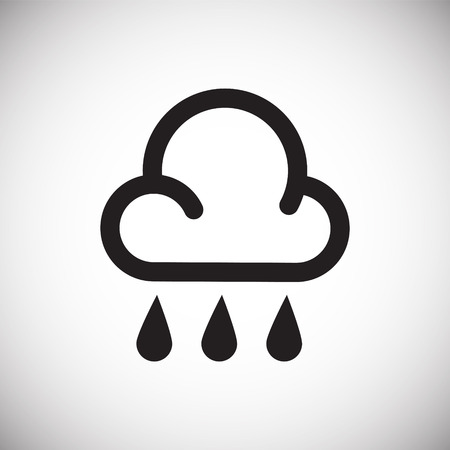 Weather rain icon on white background for graphic and web design, Modern simple vector sign. Internet concept. Trendy symbol for website design web button or mobile app