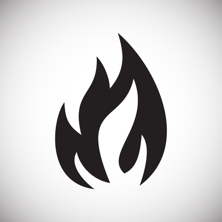 Flame icon on white background for graphic and web design, Modern simple vector sign. Internet concept. Trendy symbol for website design web button or mobile app