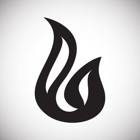 Icono de llama sobre fondo blanco para diseño gráfico y web sencillo, moderno, signo de vectores. Concepto de internet. Símbolo de moda para el botón web de diseño de sitios web o aplicaciones móviles