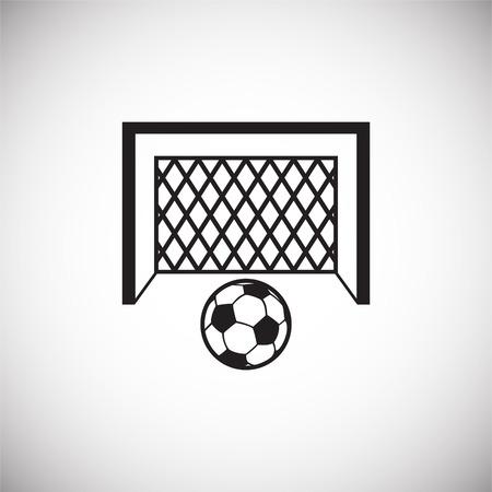 Fußballtor-Symbol auf weißem Hintergrund für Grafik- und Webdesign, modernes einfaches Vektorzeichen. Internet-Konzept. Trendiges Symbol für Website-Design-Web-Button oder mobile App