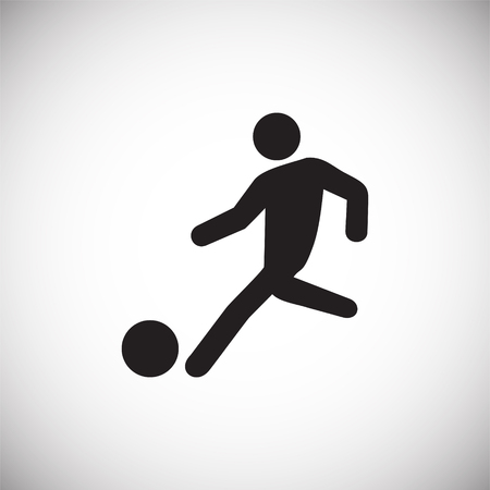 Soccer player icon on white background for graphic and web design, Modern simple vector sign. Internet concept. Trendy symbol for website design web button or mobile app